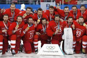 """Наши российские хоккеисты стали олимпийскими чемпионами! Они стали фаворитами среди хоккейных команд и болельщиков олимпиады. """"Красная машина"""" одержала победу в финале над  командой Германии и стала чемпионом Олимпийских игр."""